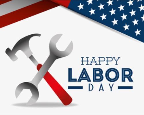 Happy labor day design, vector illustration eps 10.