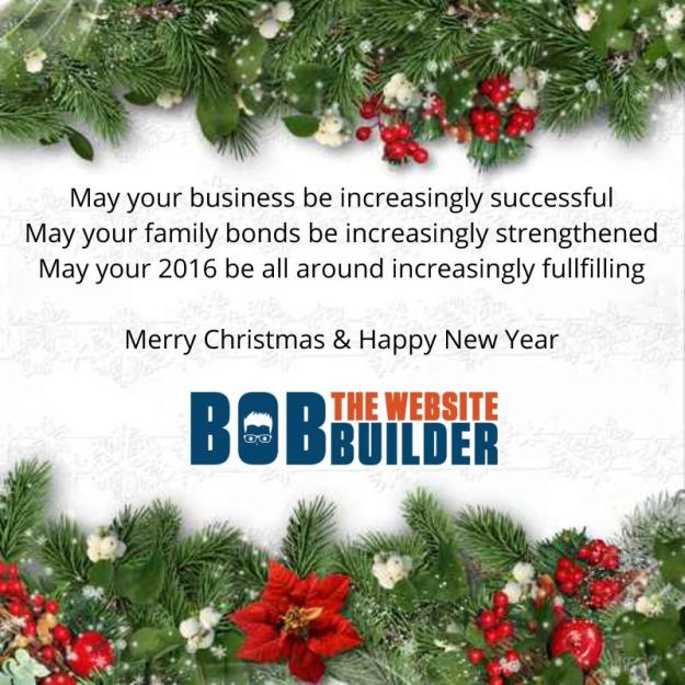 Merry Christmas from Bob The Website Builder